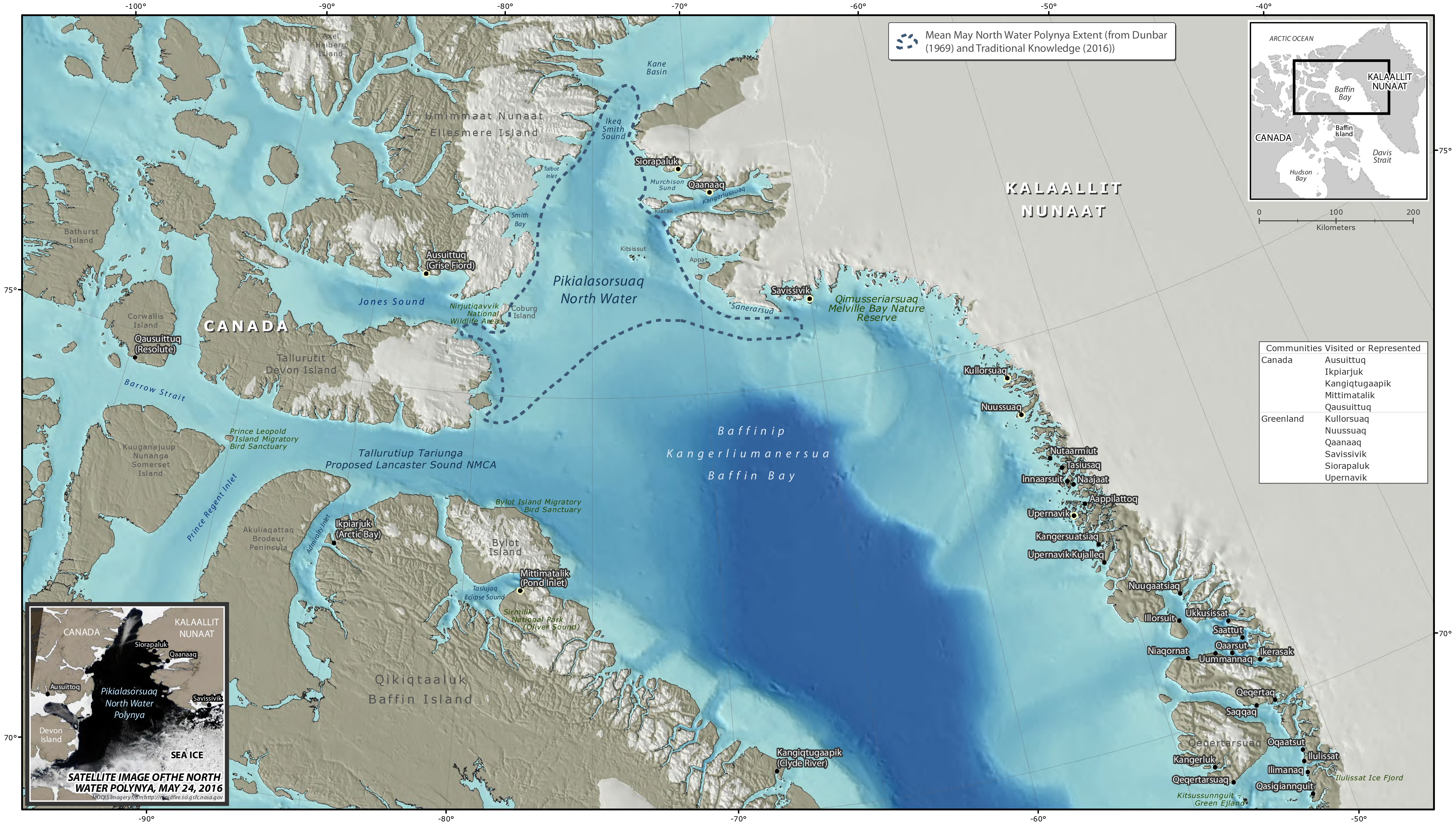 A new report proposes Inuit cross-border management for North Water Polynya