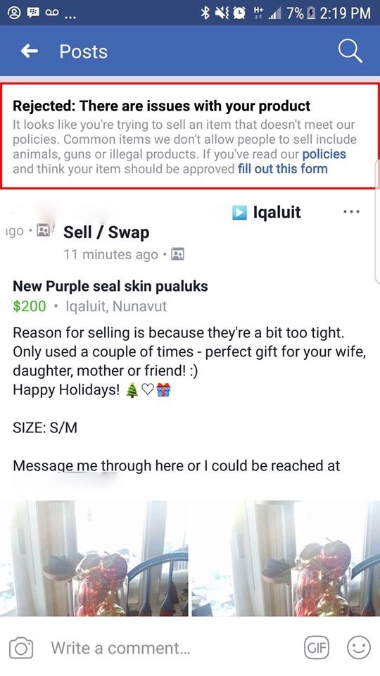 Facebook clamps down on sales of seal-skin products