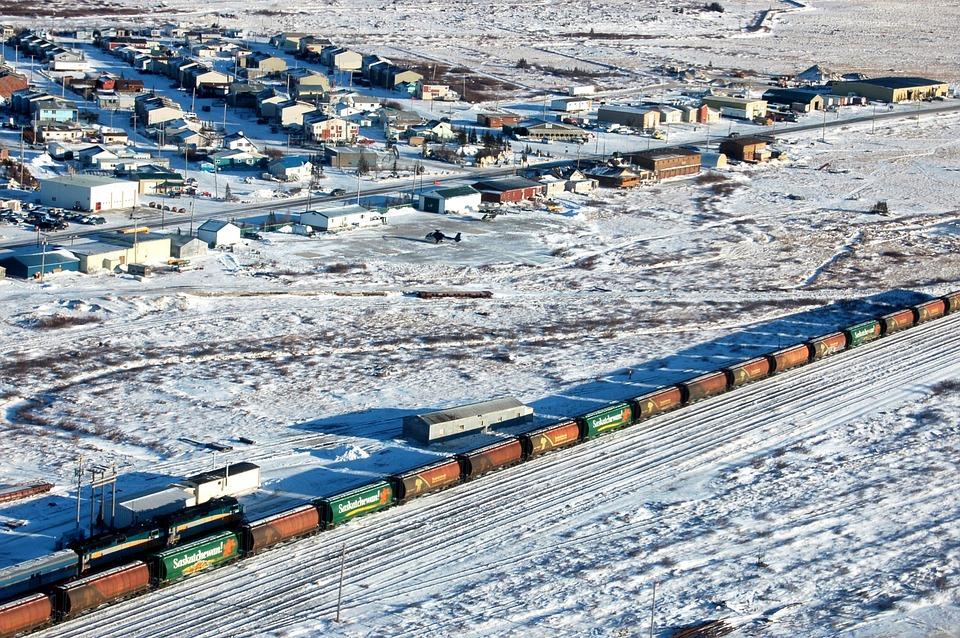 Officials are still scrambling to fix a rail link to Canada's deepwater Arctic port