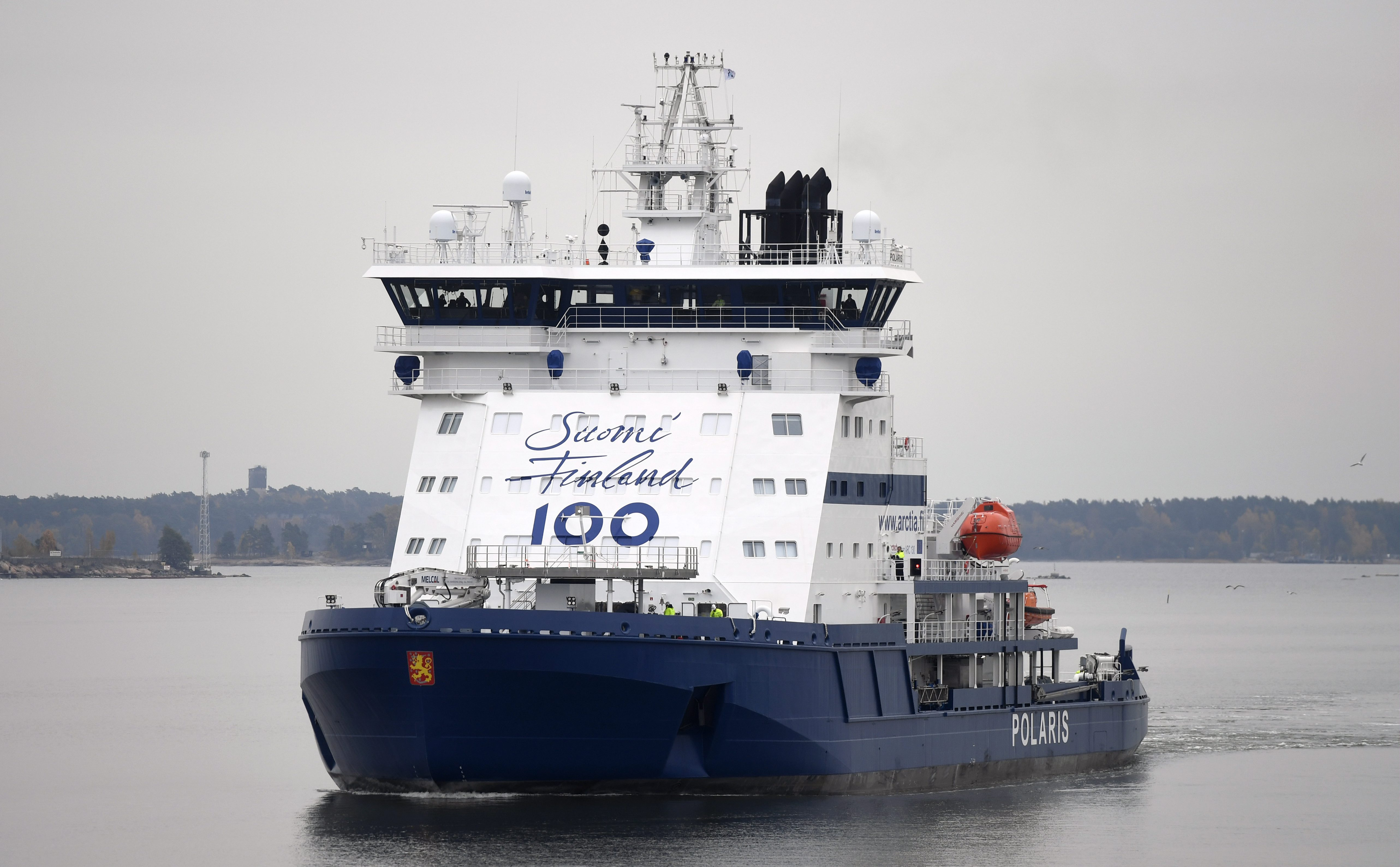 Finland's newest icebreaker was launched earlier this year as part of the country's centenary celebrations. (Arctia Ltd.)