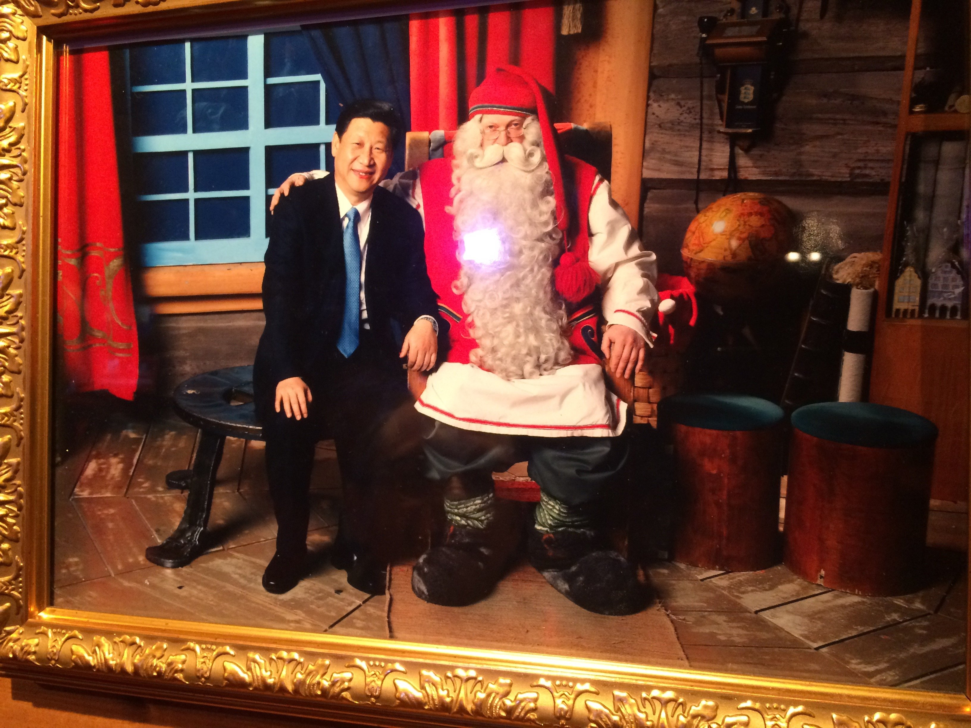 The list of people who have visited Santa Claus in Rovaniemi is worth checking out. Here, China's Xi Jinping poses with the jolly old elf in 2010, while serving as vice-president.