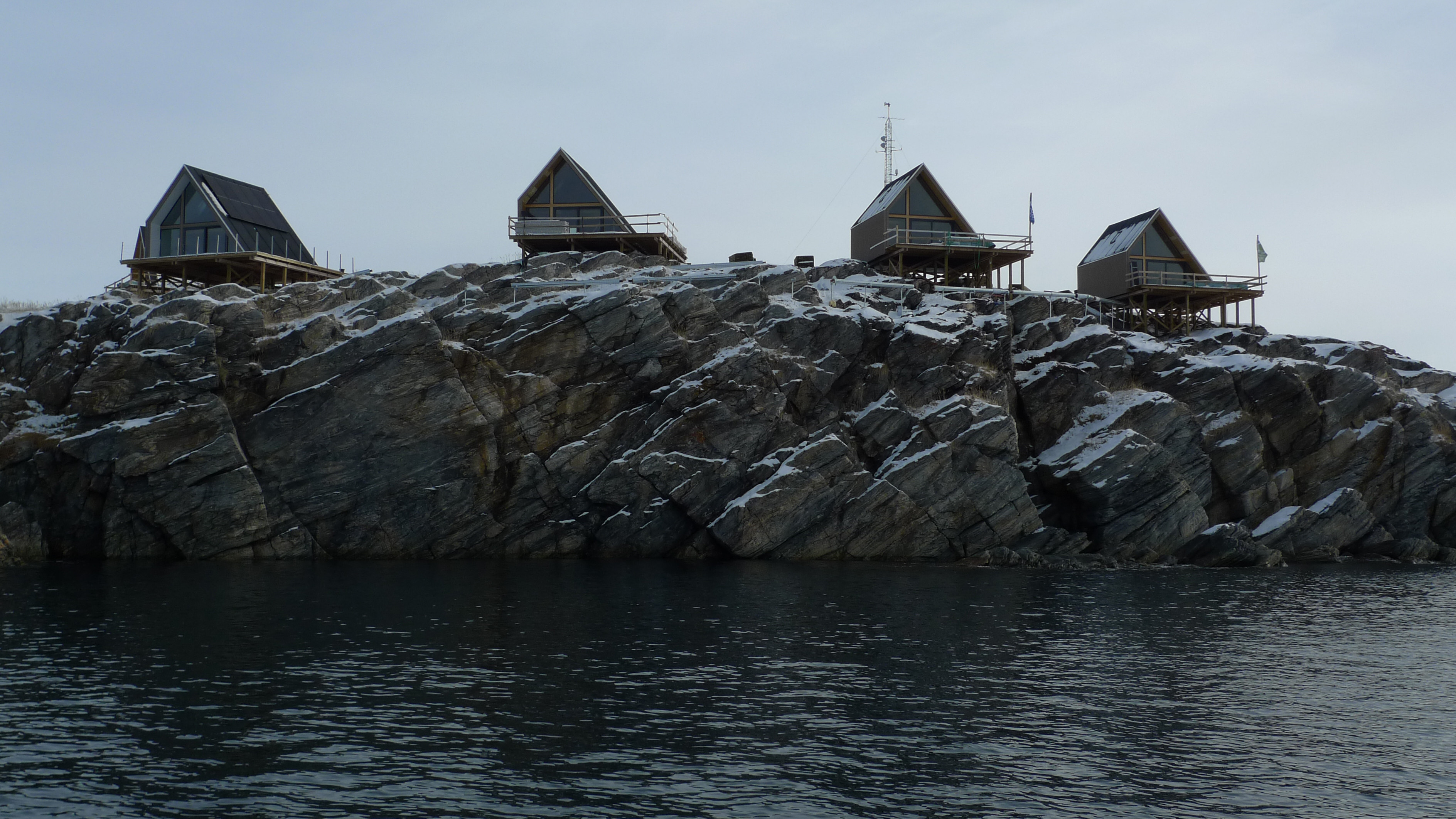 Luxury cabins in Ilimanaq overlooking the Icefjord.(Realdania By og Byg)