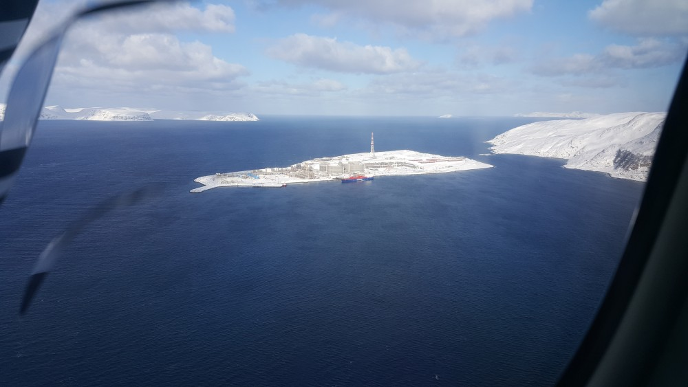 The Melkøya gas plant near Hammerfest on Barents Sea coast. (Thomas Nilsen / The Independent Barents Observer)