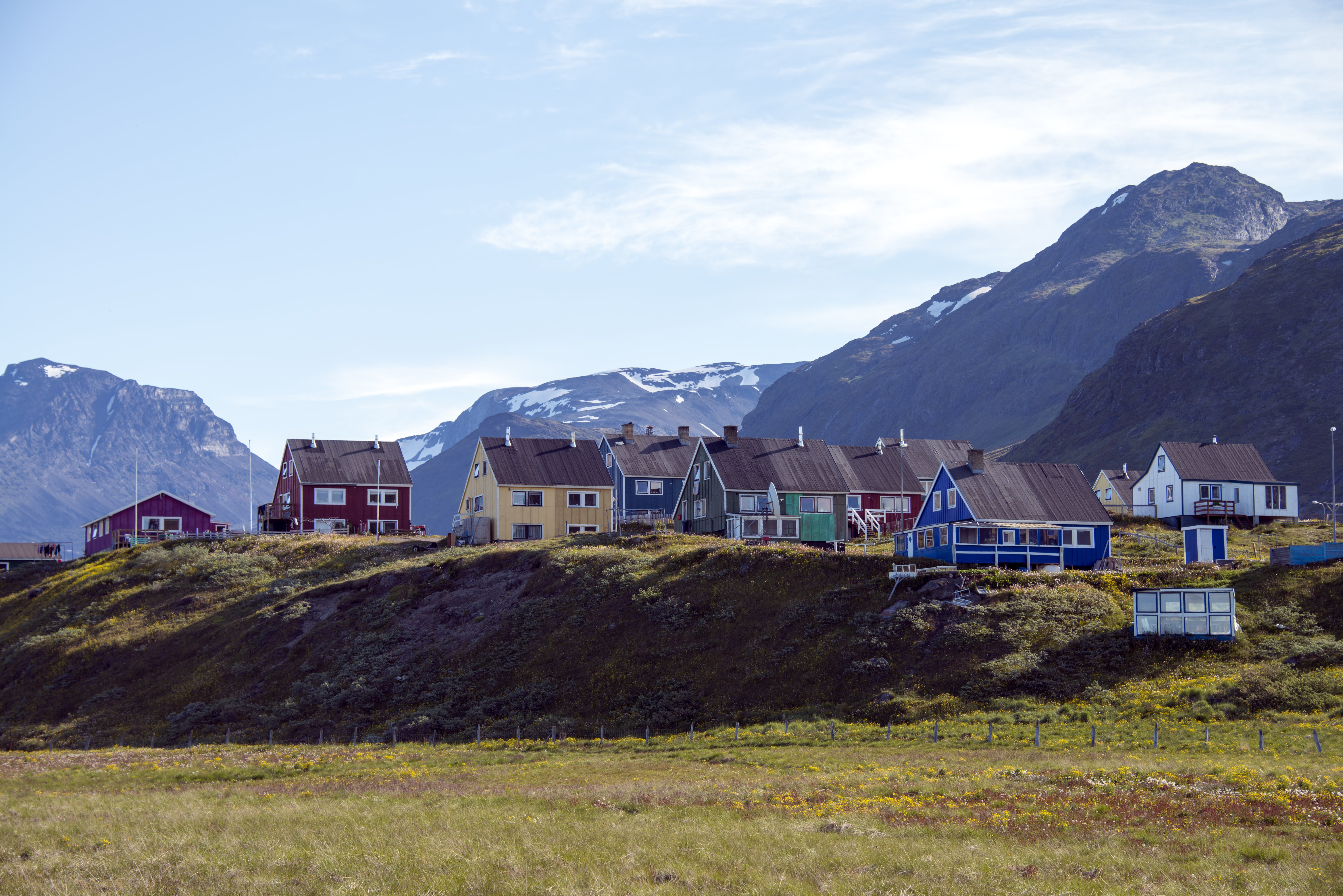 The village of Narsaq in South Greenland (Getty)