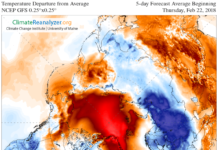 Arctic continues to experience warmer-than-average temperatures