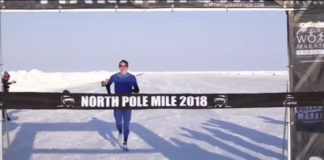 Irish runner sets North Pole mile record