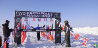 Runners brave freezing conditions for North Pole Marathon