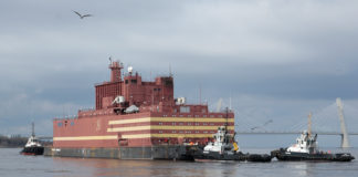 Russia's first floating nuclear power plant heads towards the Arctic