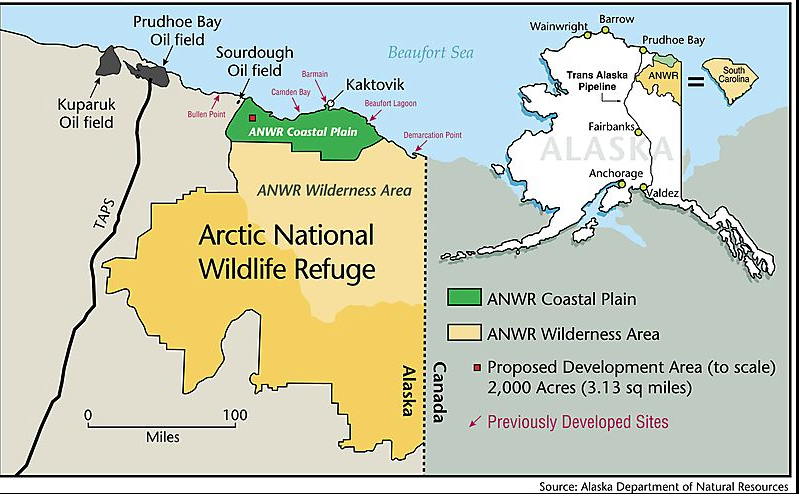 Anwr Alaska Map.Busting The 2 000 Acre Myth About Drilling In Alaska S Arctic Refuge