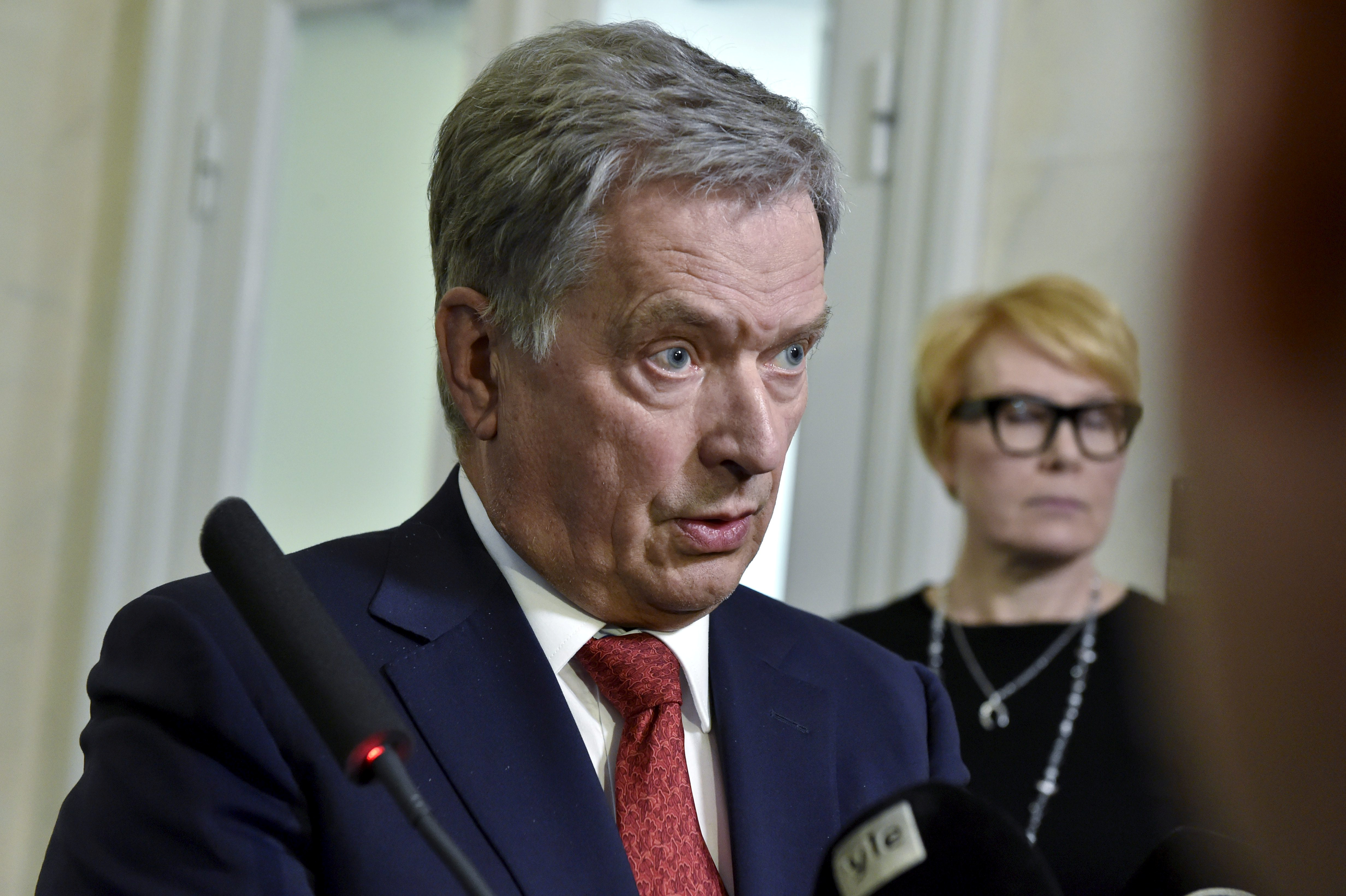 Finnish President Sauli Niinisto attends a news conference in Helsinki 8b944a227ad