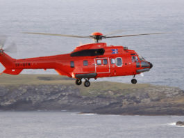 An Iceland Coast Guard helicopter is on the lookout for polar bears in the West Fjords