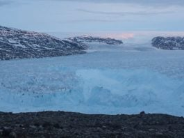 An iceberg the size of lower Manhattan broke off a Greenland glacier
