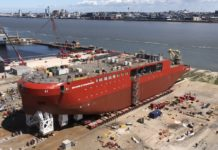 The launch of a new British polar research vessel is hailed as a 'milestone'