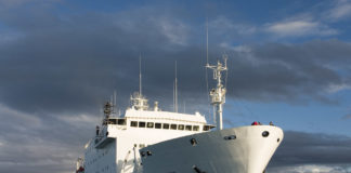 A cruise ship runs aground in Canada's Arctic waters