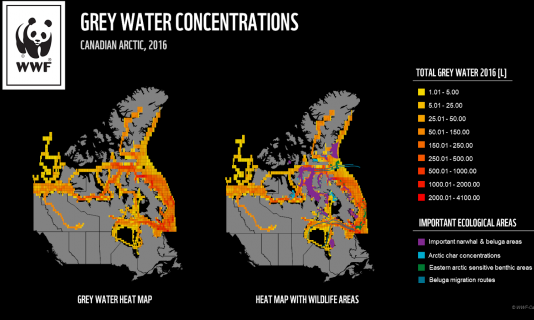 Grey water dumped into Nunavut waters is set to double by 2035, says WWF
