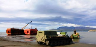 Development begins on a new sea port in Russia's remote Novaya Zemlya