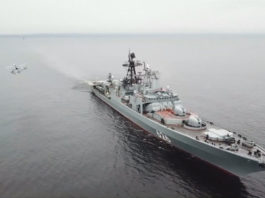 Russia's Northern Fleet practiced hunting enemy submarines in the Bering Strait
