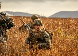 US marines train in Iceland