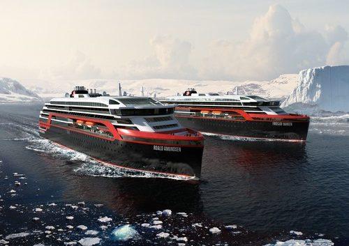 "Hurtigruten's ""MS Roald Amundsen"" and ""MS Fridtjof Nansen"""