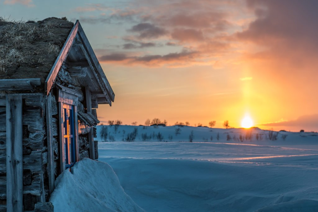 The winter sunset in Lapland. (Markus Kiili / Lapland Material Bank)