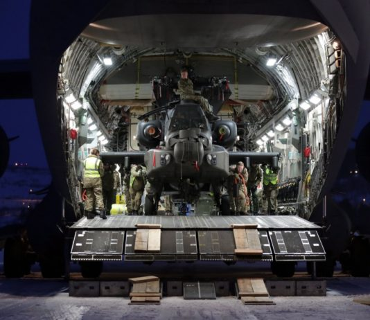 British attack helicopters arrive for winter exercise in Northern Norway