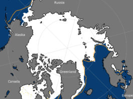 Spring melt starts after low winter Arctic ice maximum