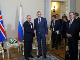 Icelandic President Johannesson met with Putin on Arctic forum sidelines