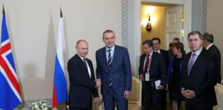 Icelandic President Johannesson met with Putin on Arctic forum sidelines