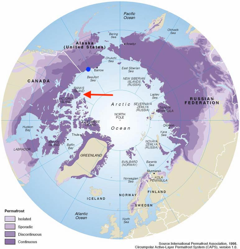 Thawing permafrost is triggering thousands of landslides across the Arctic