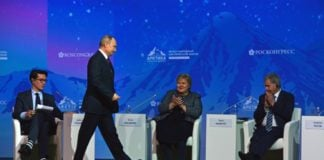A united Nordic front sits down with Putin at Russian Arctic conference