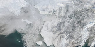 Quickly retreating sea ice off Alaska is driving another dramatic Arctic melt season