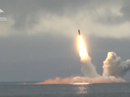 Russia test fires missiles from submarines in the Arctic Ocean