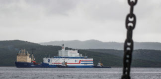 Russia's first sea-borne nuclear power plant arrives at its Arctic base