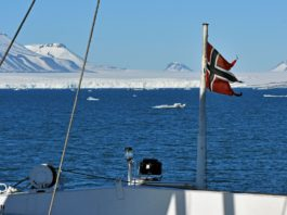 Climate change is poised to divide Norway's largest Arctic island into two