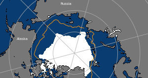 Arctic sea ice has again reached its second-lowest minimum extent