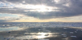 A lack of ice in the Chukchi Sea is setting the scene for a record-late freeze