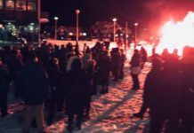 A sudden sin-tax increase has sparked protests in Nuuk