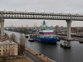 The world's largest nuclear icebreaker starts sea trials