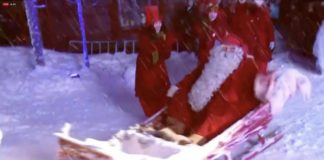 Santa sets off from Arctic Finland on his annual Christmas journey