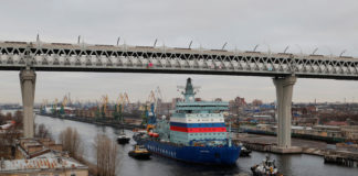 Needing a major engine repair, Russia's massive new icebreaker faces an uncertain future