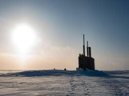 U.S. Navy submarines surface near the North Pole as a major Arctic exercise gets underway