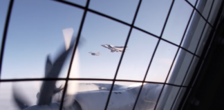 A new Russian video shows a close military aircraft encounter in the Arctic