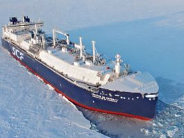 The season's first Russian LNG convoy is sailing the Northern Sea Route — a month earlier than usual