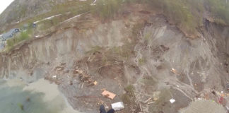 Mudslide in Arctic Norway sweeps houses into the sea