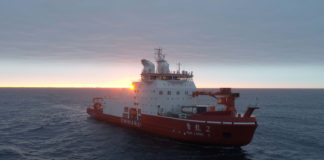 China's new icebreaker sets course for its first Arctic voyage
