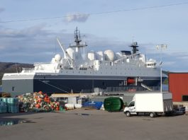 Norway changes homeport for spy-ship, away from Russian border