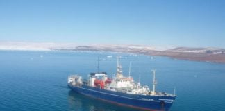 A survey ship has sailed from Norway on a mission to find a trans-Arctic fiber cable route