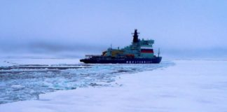 Russia's new super icebreaker reaches the North Pole during ice trials