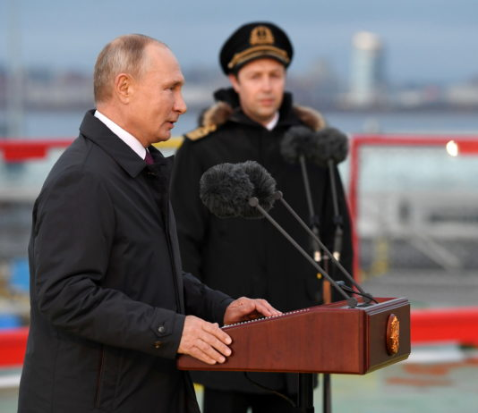 Putin pledges Russian superiority in the Arctic with new icebreakers