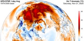 High temperatures persist into autumn across the Arctic